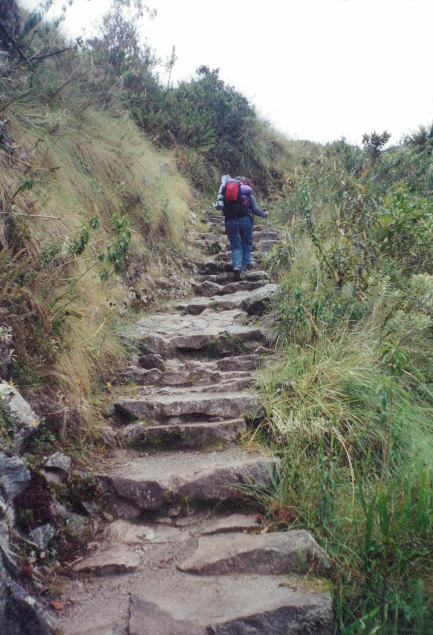 Photos of Inca Trail and Machu Picchu Peru in 2001